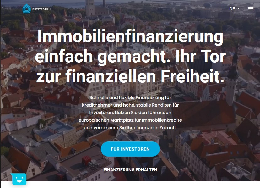 Immobilien-Crowdfunding EstateGuru (Screenshot)