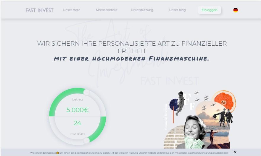FAST INVEST - P2P-Crowdlending-Plattform im neuen Design
