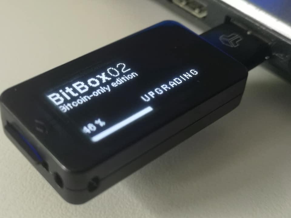 Hardware-Wallet Bitbox02 in der Bitcoin only-Version